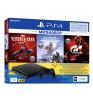 Sony PlayStation 4 Slim 1 ТБ Jet Black + Человек-паук, Horizon Zero Dawn, Gran Turismo Sport